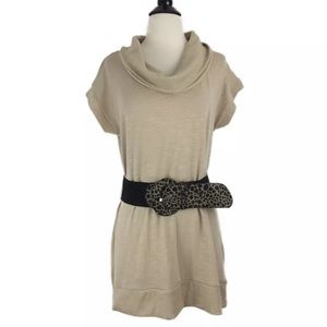Dressbarn Cowl Neck Sweater Dress with Belt
